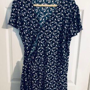EUC -Loft Plus Wrap Dress Size 18